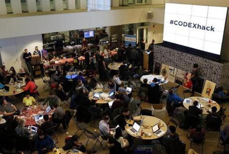 The CODEX Hackathon at MIT united programmers with librarians, students, and others to dream up apps and websites meant to expand the frontiers of publishing.